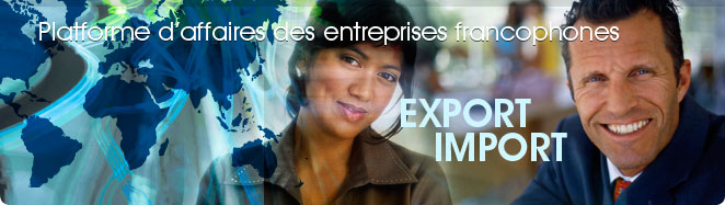 import export : Plateforme d'affaire des fournisseurs grossistes francophones