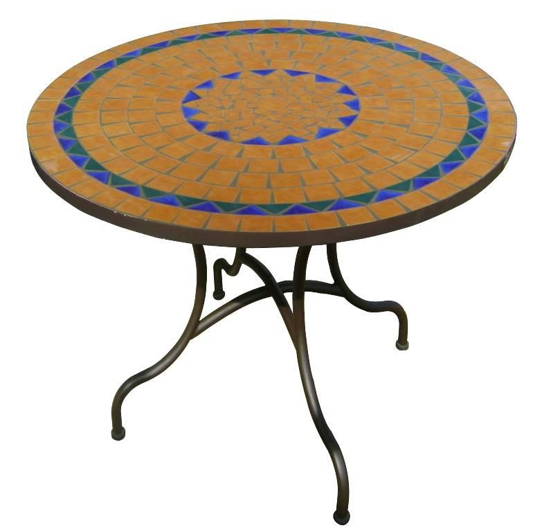 Produits - Table ronde mosaïque - Import Export : Cecif.com